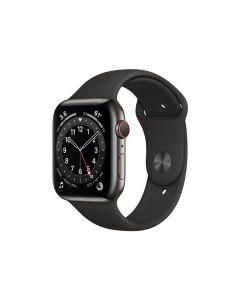 Apple Watch Series 6 (GPS + Cellular) 40mm Star grey stålskal / svart sportarmband M06X3KS/A