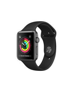 Apple Watch Series 3 (GPS) 38mm Star Grey aluminiumskal / svart sportarmband MTF02FS/A