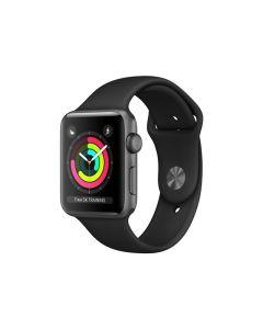 Apple Watch Series 3 (GPS) 42mm Star Grey aluminiumskal / svart sportarmband MTF32FS/A