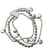Kalevala Twinflower -armband 17.5cm (ljusröd) 2565400HE