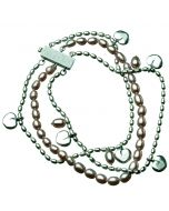 Kalevala Twinflower -armband 20.5cm (ljusröd) 2565400HE